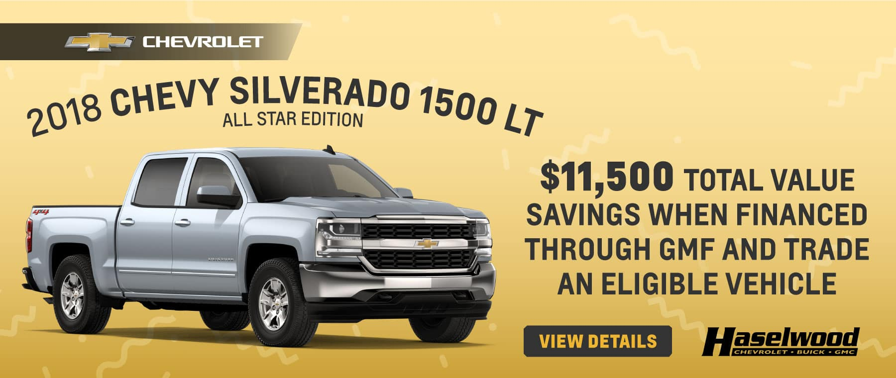 2018 Chevrolet Silverado 1500 LT Crew All Star Edition   $11,500 Total Value Savings when financed through GMF and trade an eligible vehicle