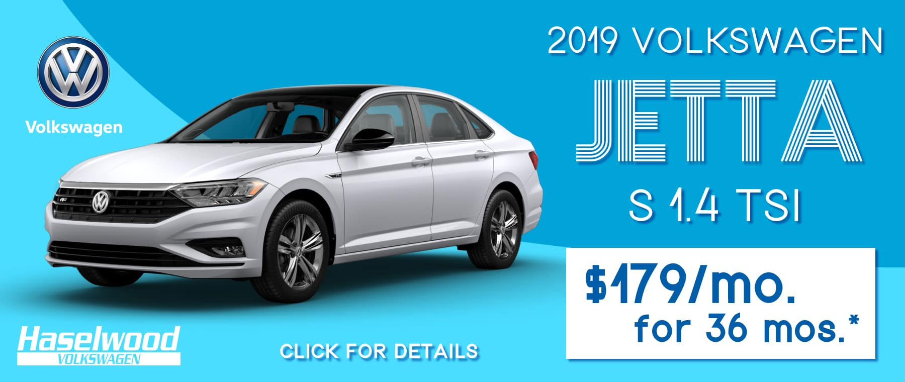 2019 Volkswagen Jetta S FWD  $179/mo. For 36 mos.*