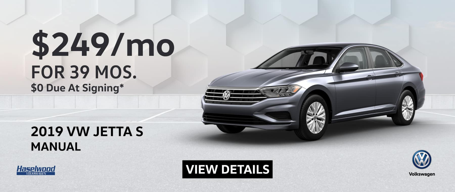 2019 VW Jetta S Manual $249/mo for 39 months