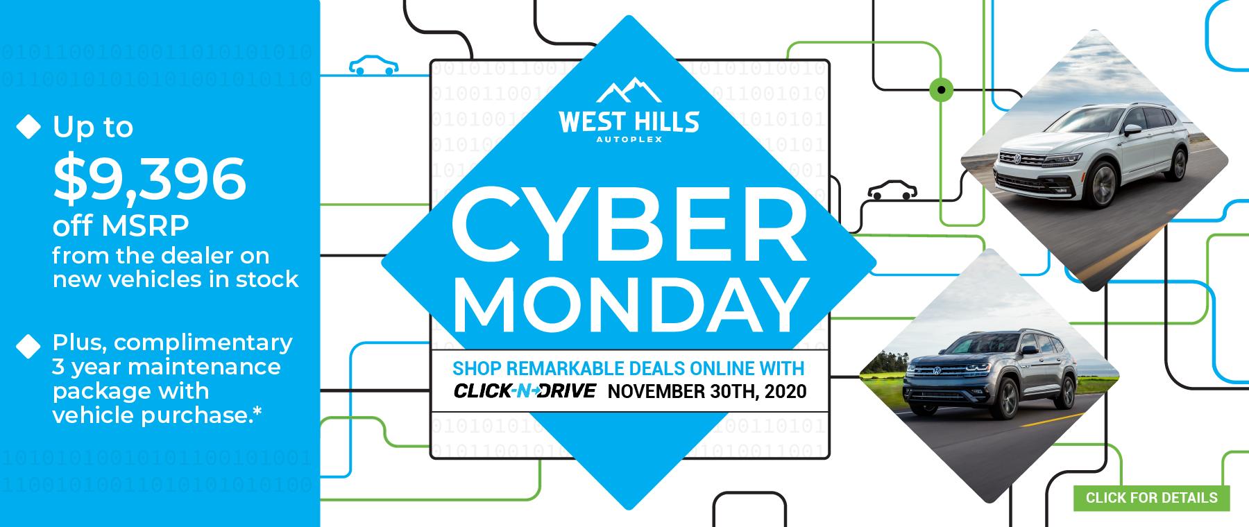 11732 – NOV20 – WHAP – Cyber Monday – Webslide_VW – 1800×760
