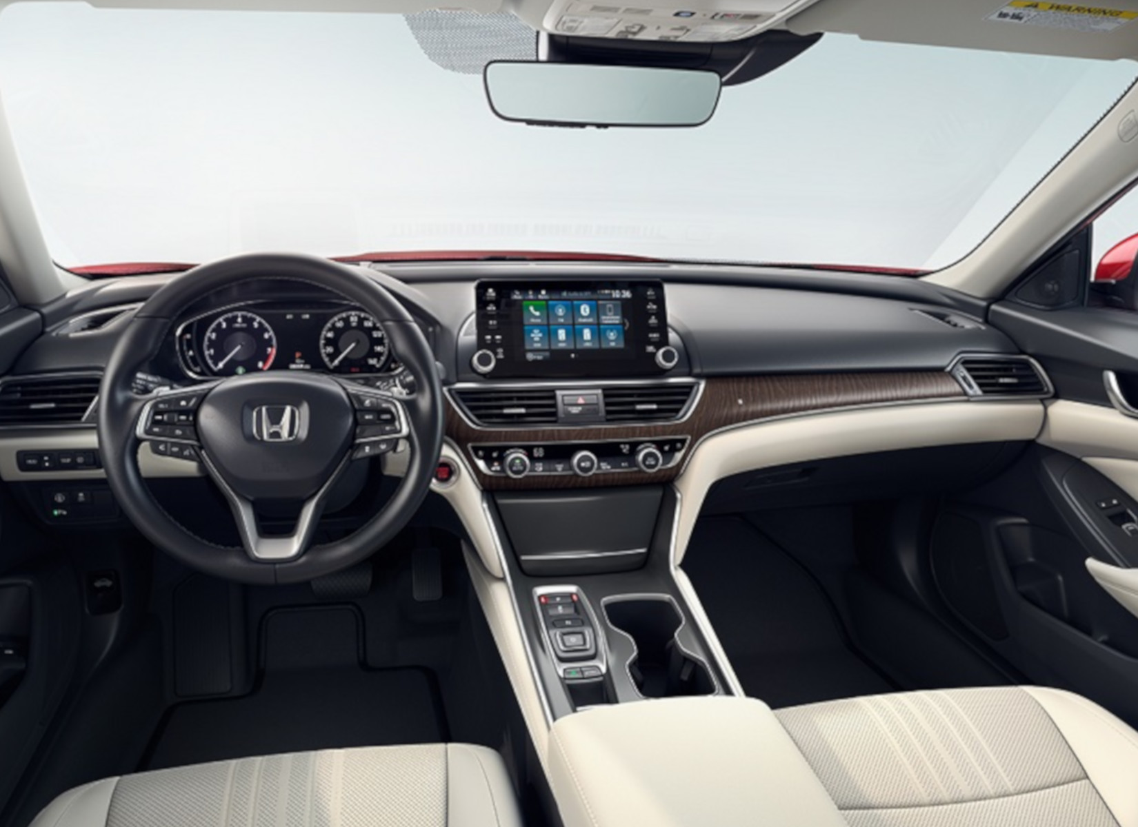 Touchscreen display inside the 2019 Honda Accord