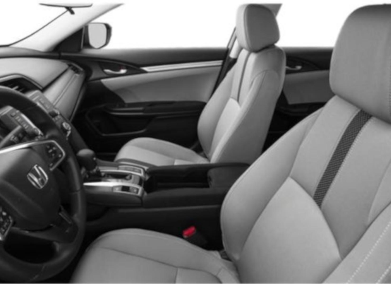 The spacious interior of the 2019 Honda Civic