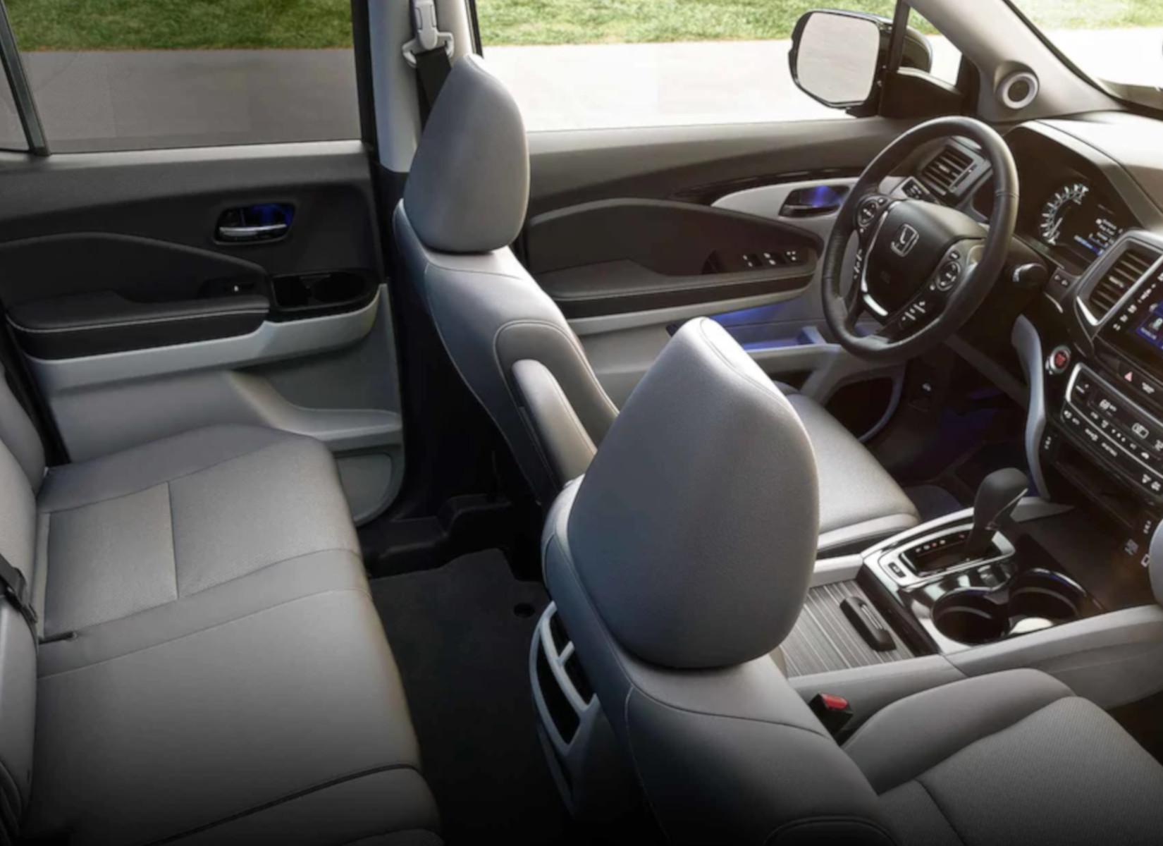 The spacious interior of the 2019 Honda Ridgeline