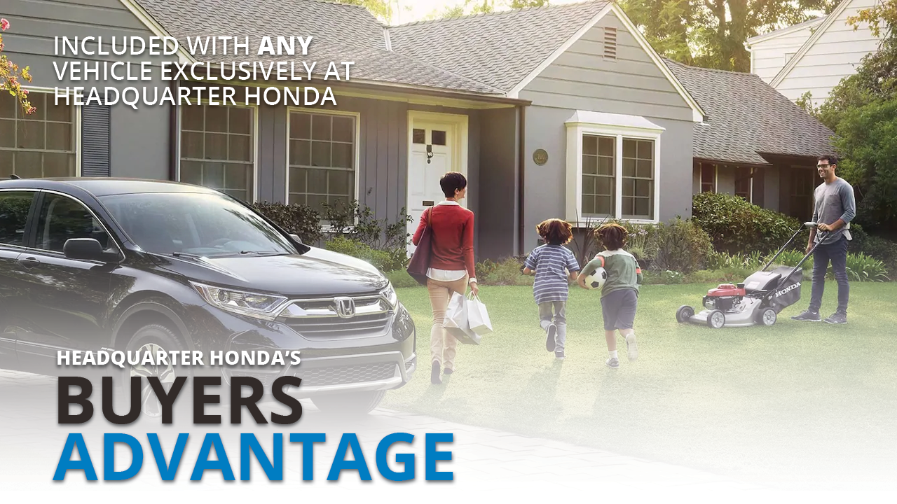 When you purchase a vehicle from Headquarter Honda, we offer many unique benefits not offered by our competitors