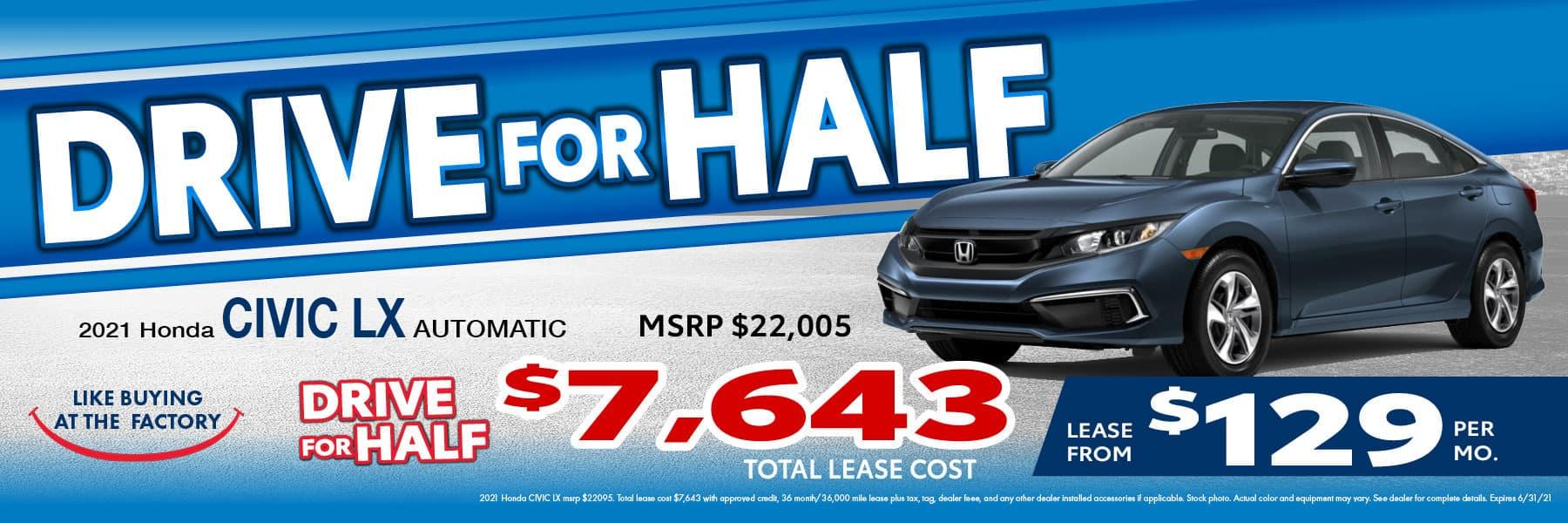 rjjT3991 HQ Honda 1800×600 Drive Half