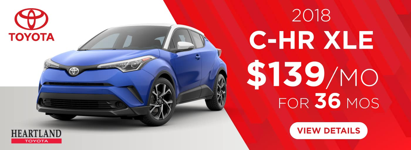 2018 Toyota C-HR XLE $139/mo. For 36 months*