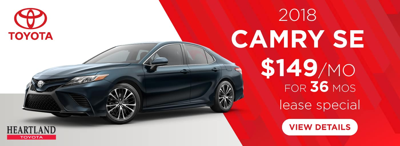 2018 Toyota Camry SE $149 per month lease special for 36 mos*