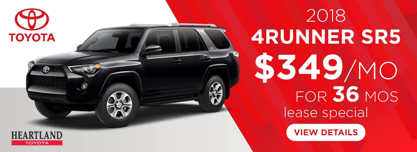 2018 Toyota 4Runner SR5 4WD $349/mo. For 36 months*
