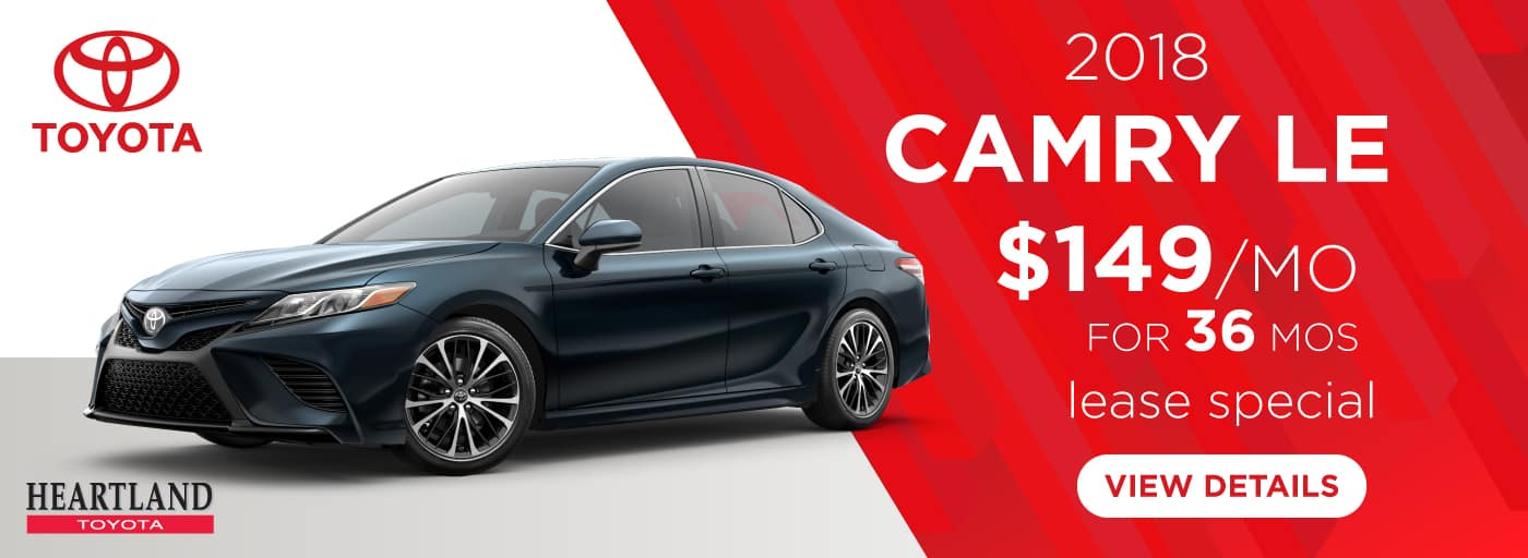 2018 Toyota Camry LE $149 per month lease special for 36 mos*