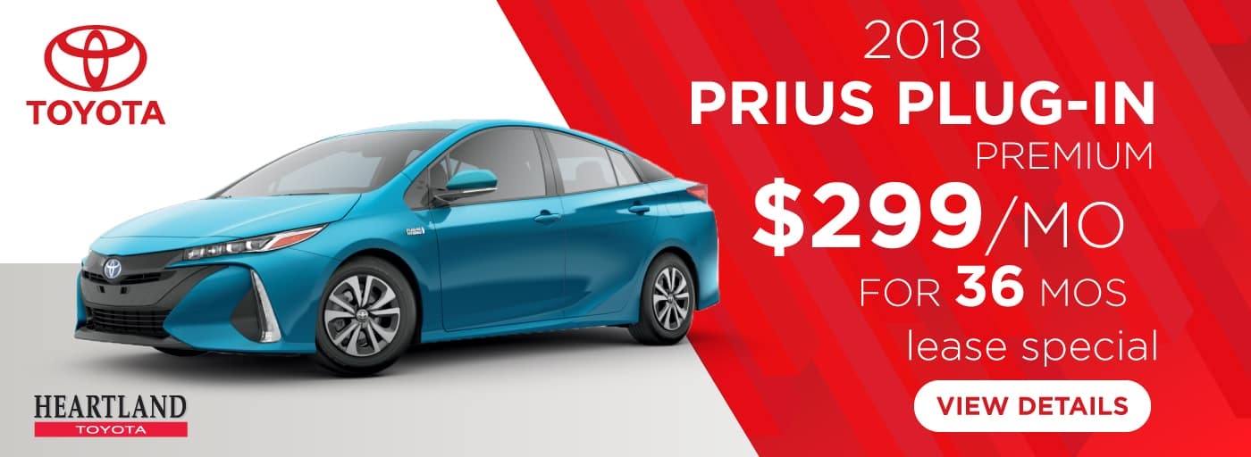 2018 Toyota Prius Plug-In Premium FWD $299/mo. For 36 months*