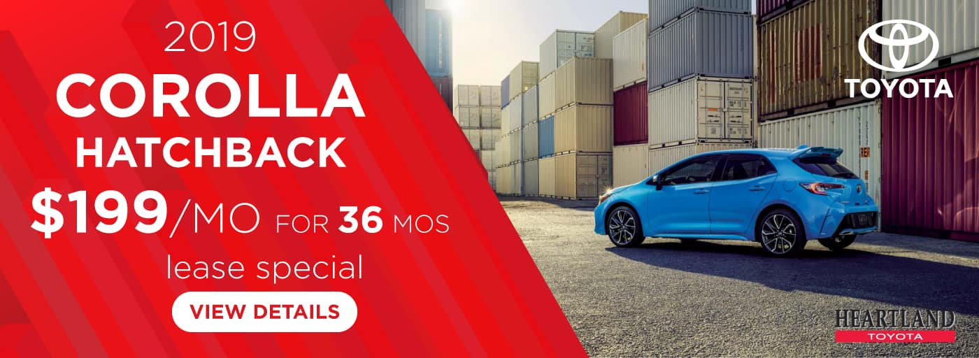 2019 Toyota Corolla SE $199 per month lease special for 36 mos*