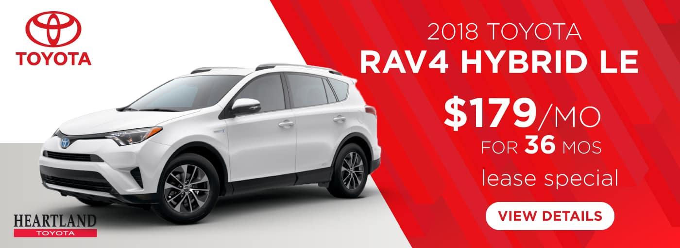 2018 Toyota RAV4 Hybrid LE $179/mo. For 36 months*