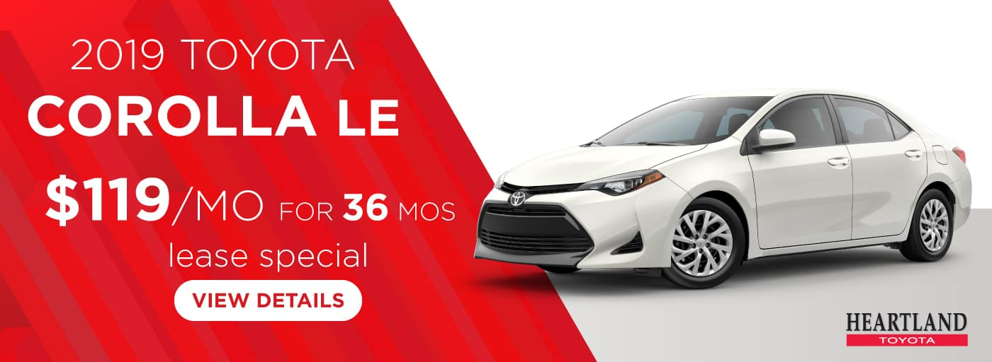 2019 Toyota Corolla LE $119 per month lease special for 36 months*