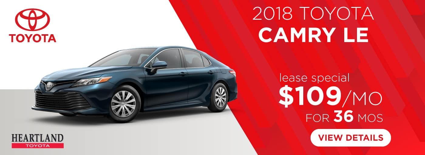 2018 Toyota Camry LE $109/mo. For 36 Months*