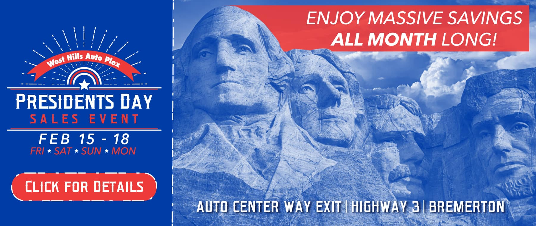 2019 Presidents Day Sales Event