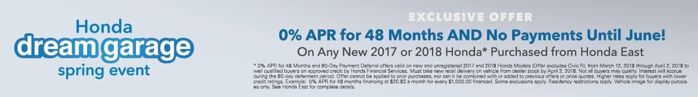 Honda East Cincinnati APR Finance Specials