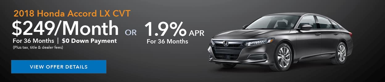 New Honda Accord Offer