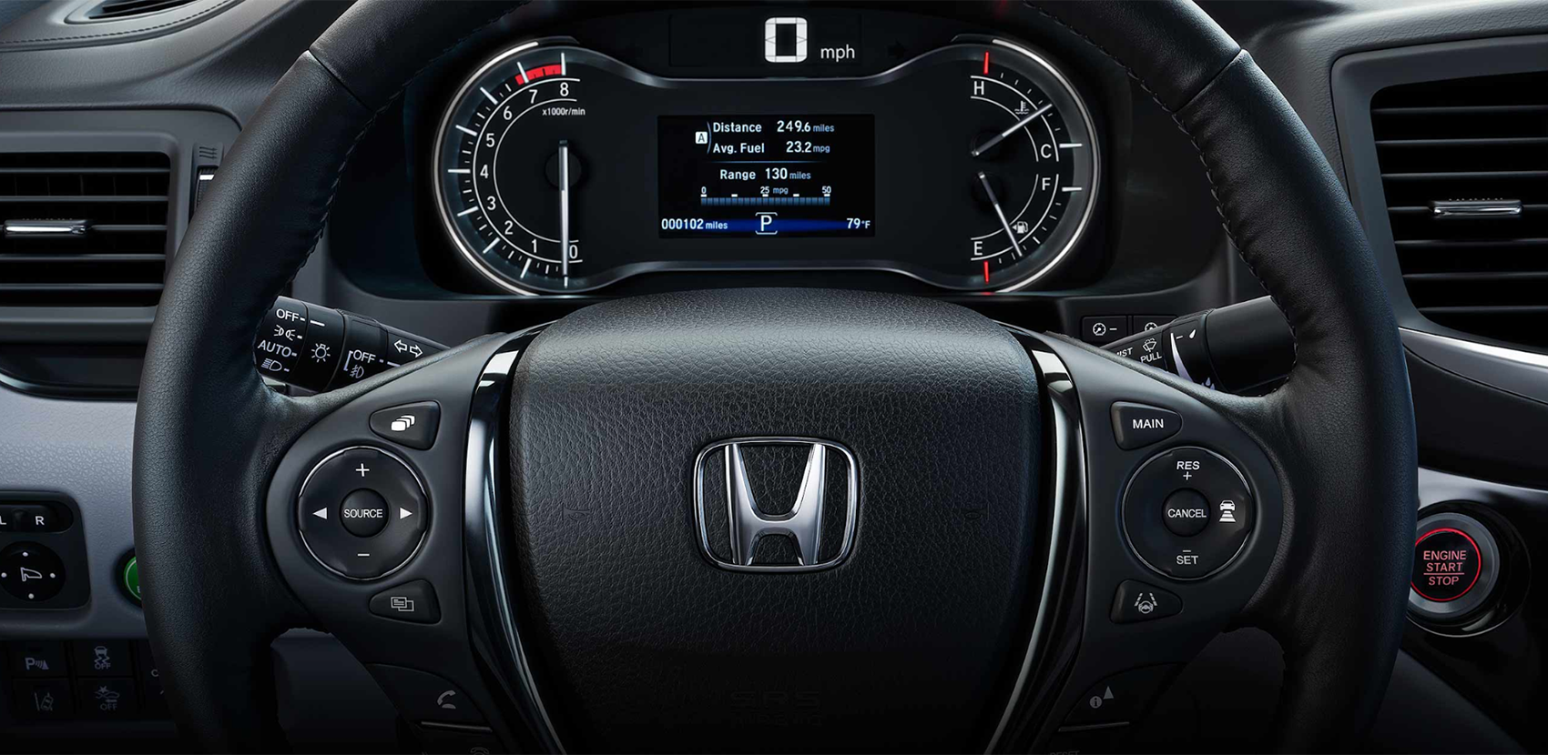 2019 Honda Ridgeline Dashboard Display