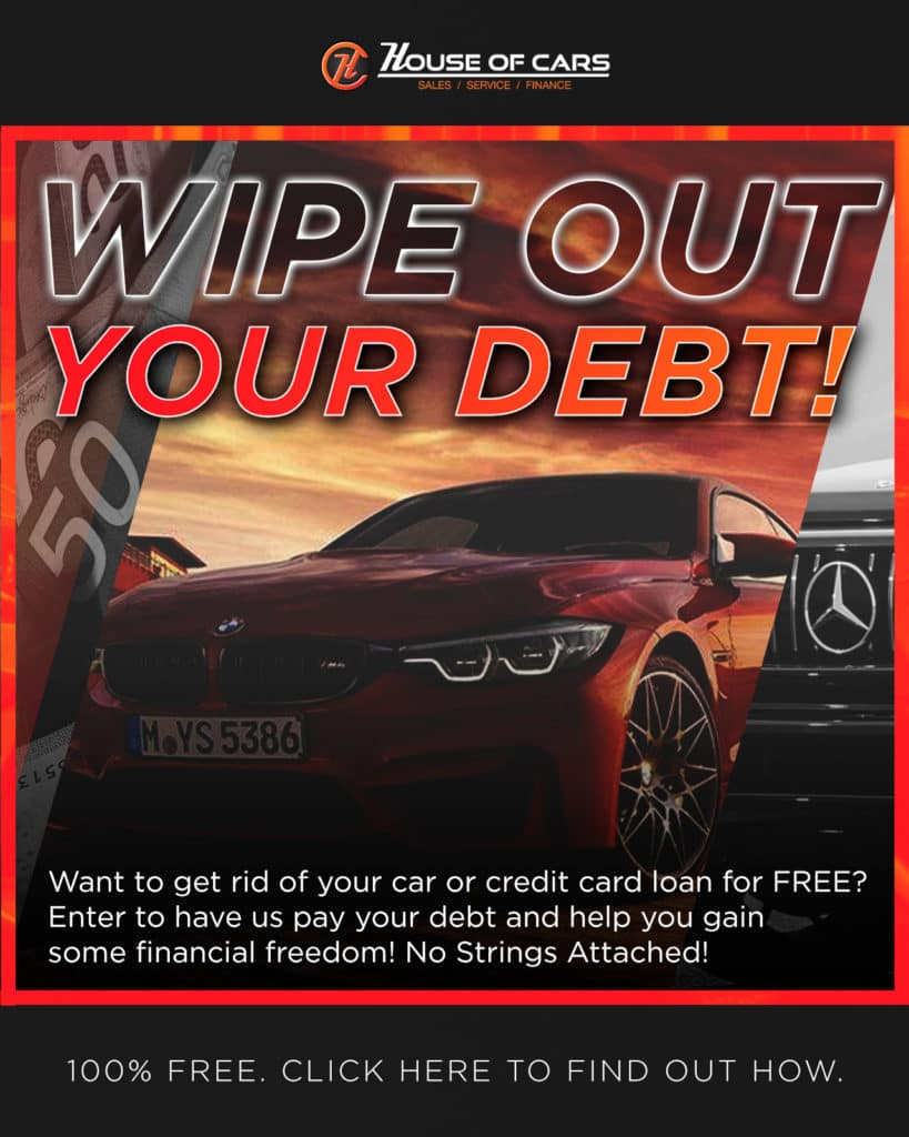 House of Cars Wants To Pay Your Debt Contest