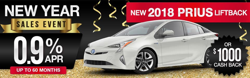 New 2018 Toyota Prius Finance or Cash Back Special