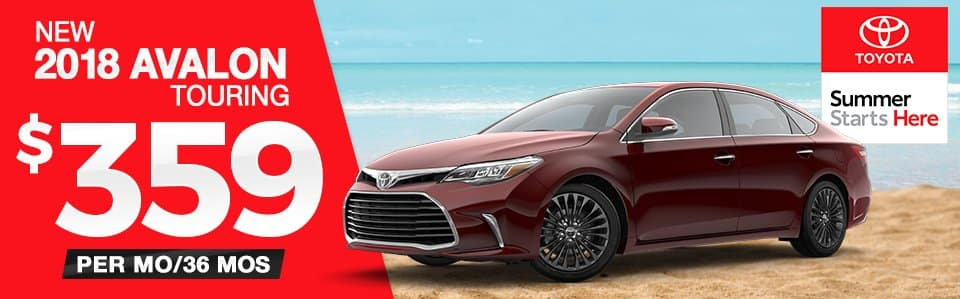 2018 Toyota Avalon Touring Lease Special