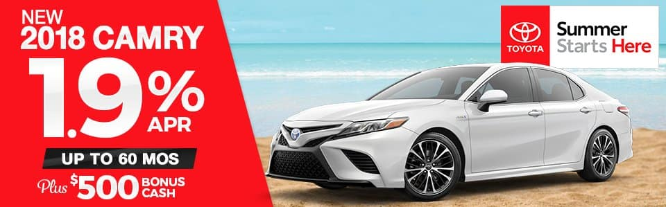 New 2018 Toyota Camry Finance Special