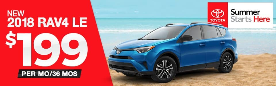New 2018 Toyota RAV4 LE Lease Special