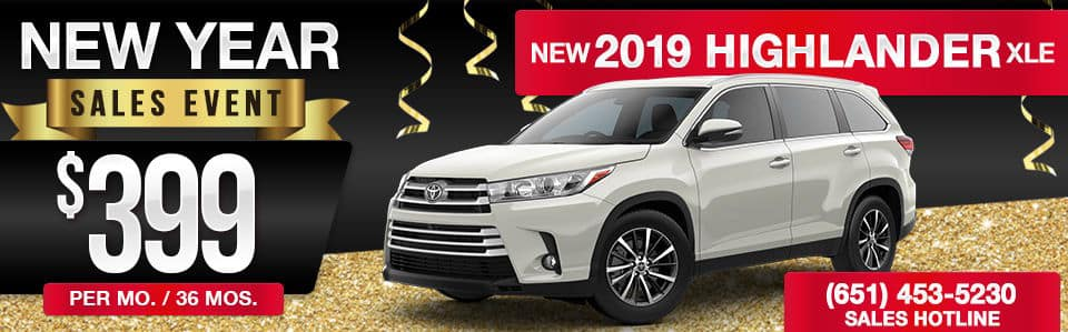 New 2019 Toyota Highlander Lease Special