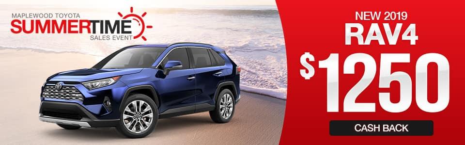 New 2019 Toyota RAV4 Cash Back Special