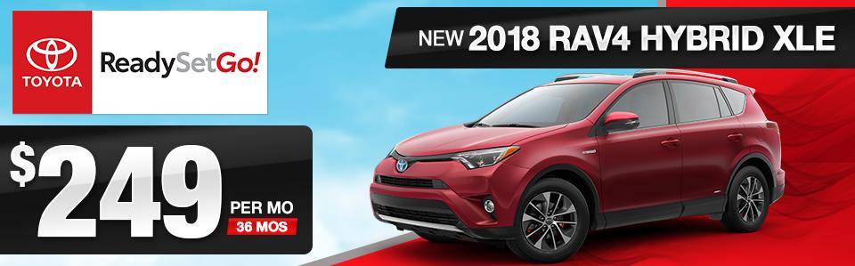 2018 Toyota RAV4 Hybrid XLE Lease Offer