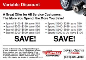 toyota coupon savings