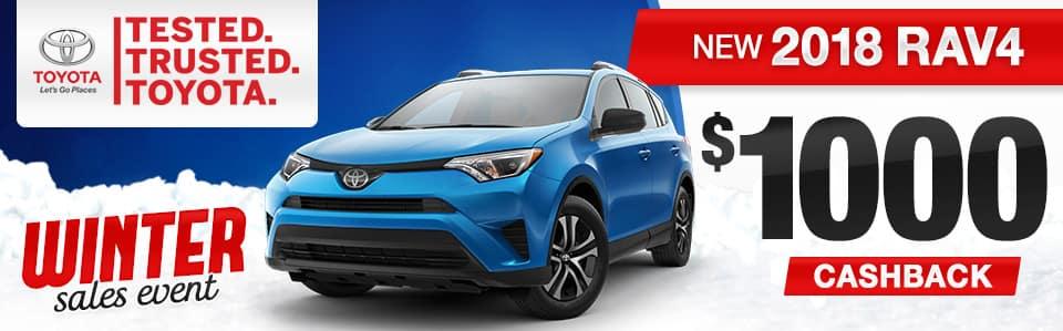 2018 Toyota RAV4 Cash Offer