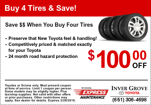 Toyota Service Coupon - Tires
