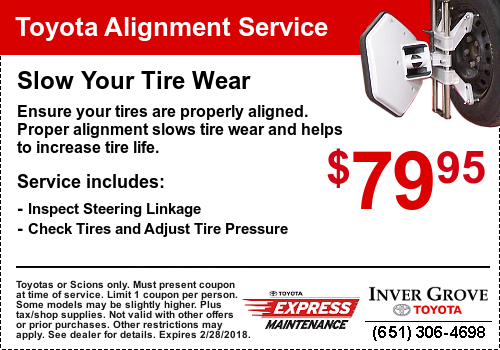 Toyota Service Coupon - Alignment