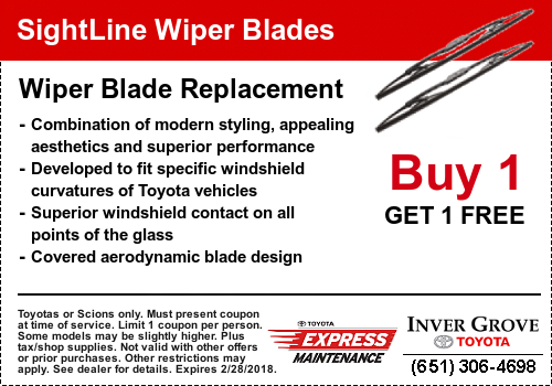 Toyota Service Coupon - Wiper Blades
