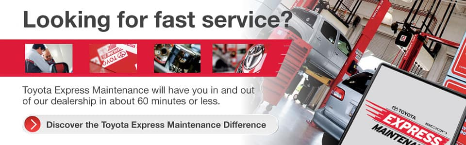 Toyota Express Maintenance Service