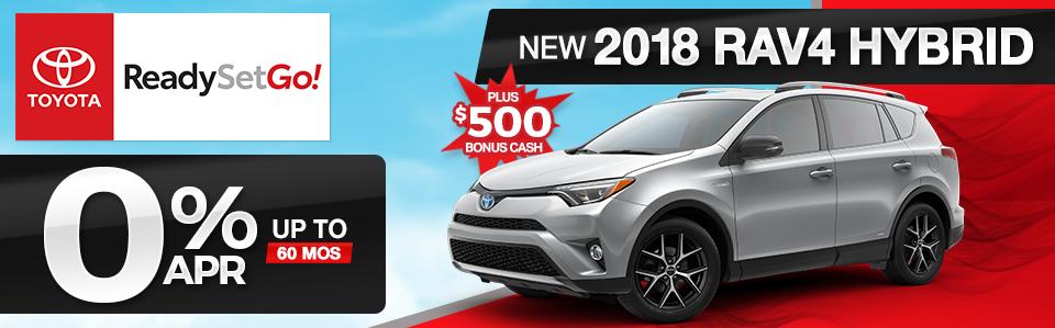 2018 Toyota RAV4 Hybrid Finance Offer