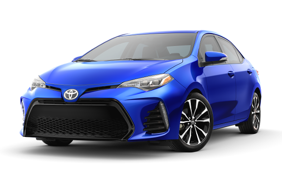 featuring the model - 2018 toyota corolla