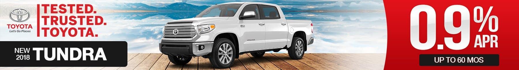 New 2018 Toyota Tundra Finance Special