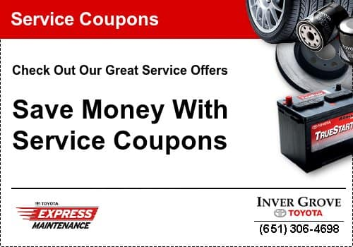 toyota engine air filter service coupon