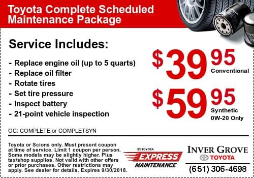 ... Genuine Toyota Oil Change Inver Grove Heights Inver Grove Toyota