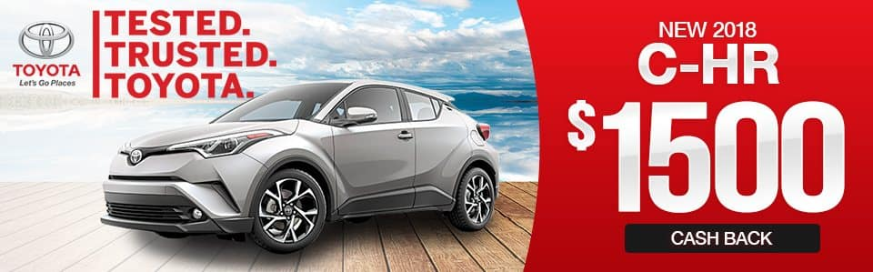 New 2018 Toyota C-HR Cash Back Special