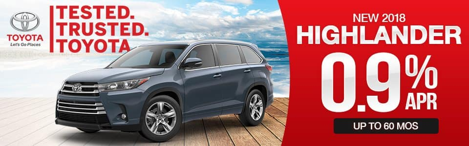 New 2018 Toyota Highlander Finance Special