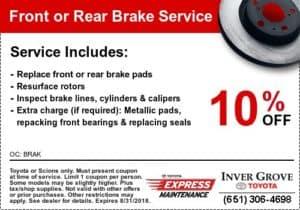 coupon-toyota-10%-brake-services