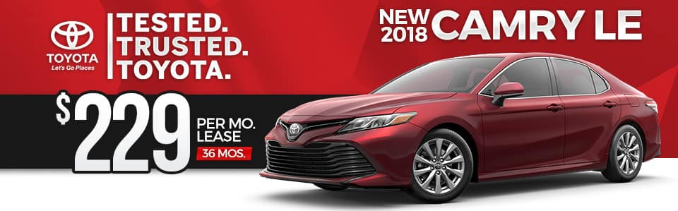 New 2018 Camry LE Lease Special