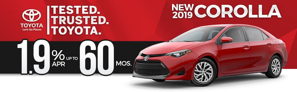 2018 Toyota Corolla Finance Special