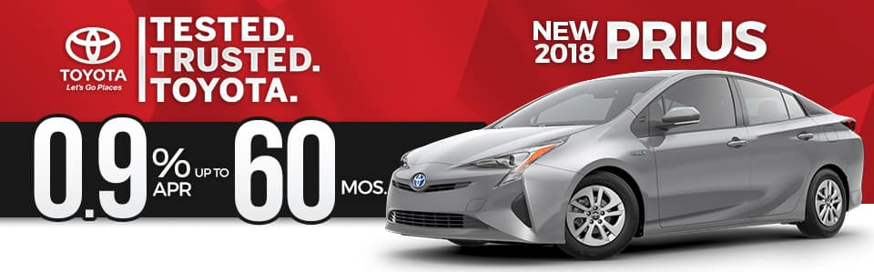 New 2018 Toyota Prius Finance Special