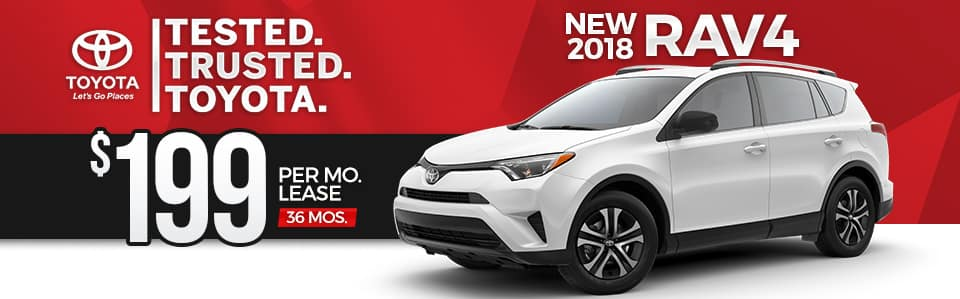 New 2018 Toyota RAV4 Lease Special
