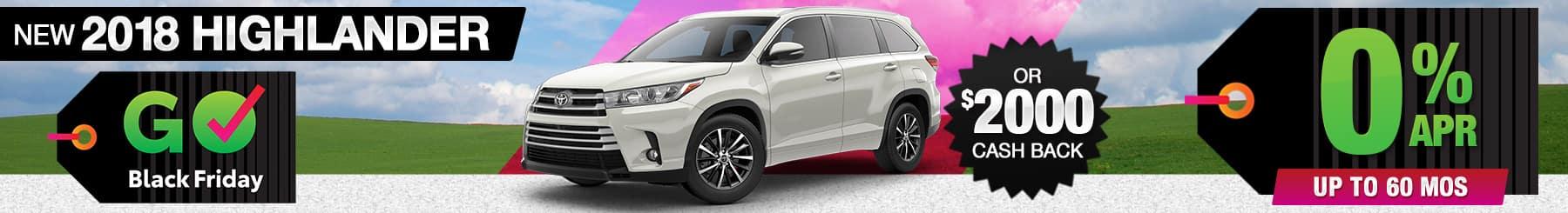 2018-Toyota-Highlander-Finance-Cash Back Special