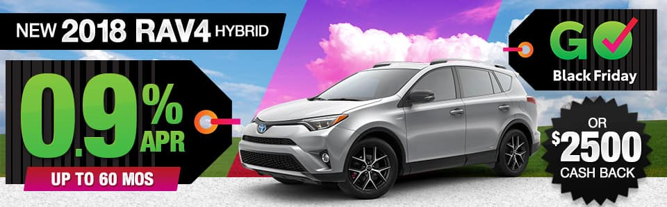 2018 Toyota RAV4 Hybrid Finance or Cash Back Special